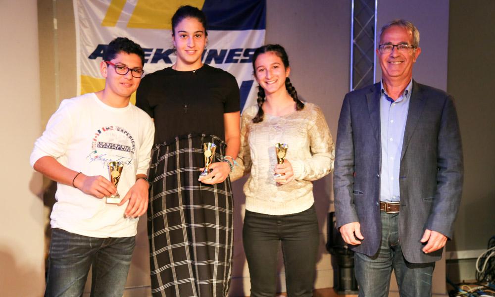 5461b831432 ... αθλητές του Ομίλου. Πραγματοποιήθηκαν κατά σειρά οι βραβεύσεις στους  αθλητές από το τμήμα τένις, πινγκ πονγκ, σκάκι, μπάσκετ και την ρυθμική  γυμναστική.